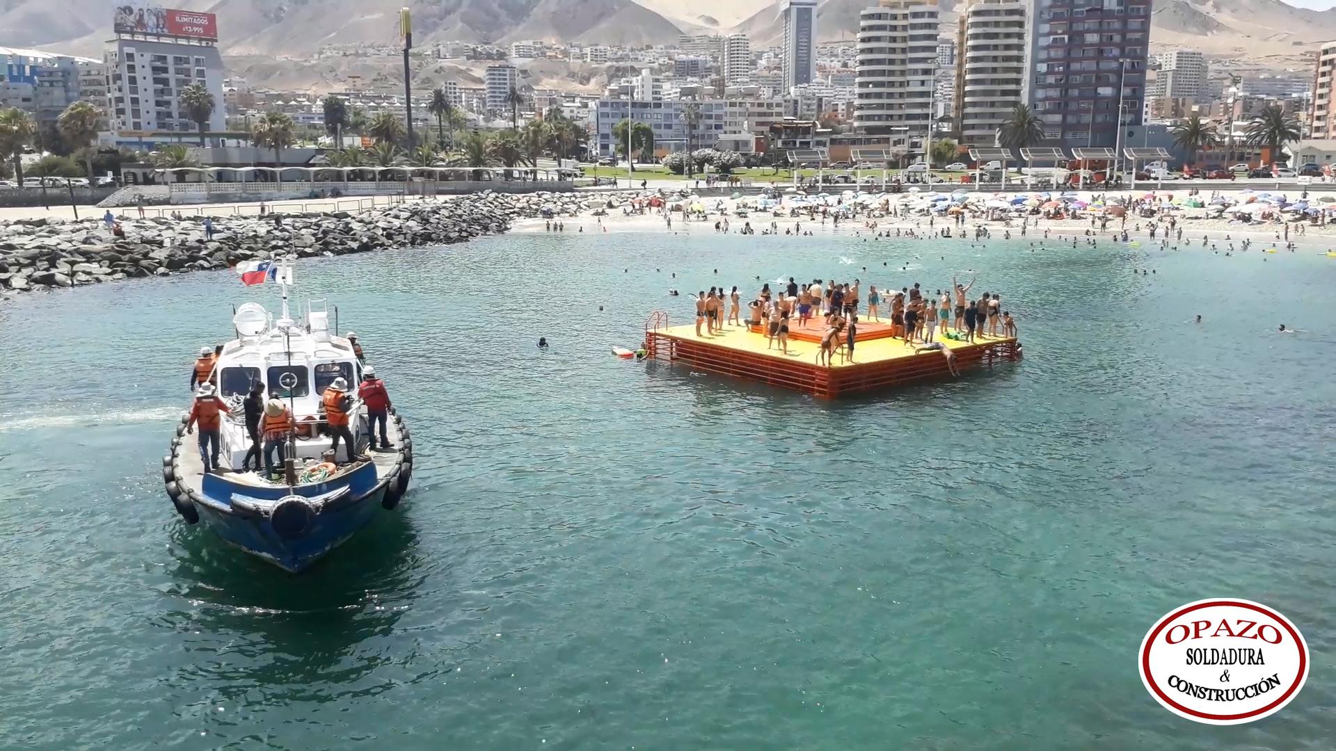 En enero instalarán nueva balsa en el Balneario Municipal de Antofagasta